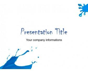 Blue Blots PowerPoint Free Templates