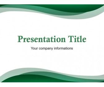 Free Green Abstract Powerpoint Template