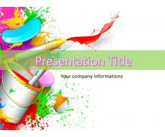 Paint Abstract PowerPoint Templates