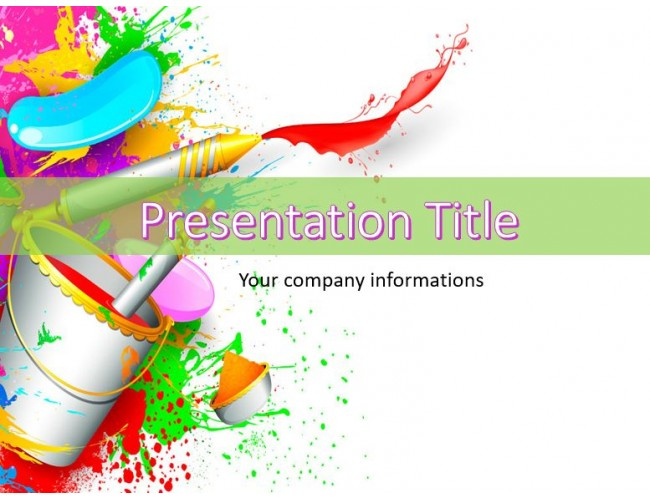 paint abstract powerpoint template