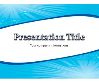 Water Abstract Free PowerPoint Template