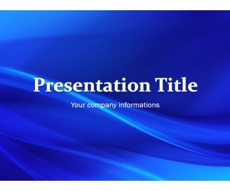 Simple Blue Waves - Free PowerPoint Template