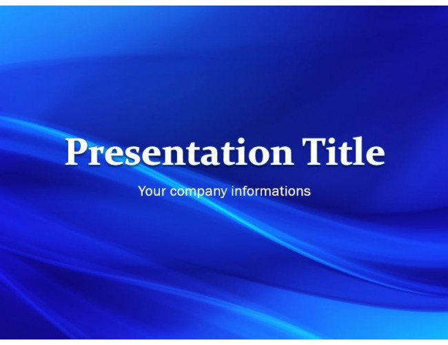 Simple Blue Waves Free Powerpoint Template