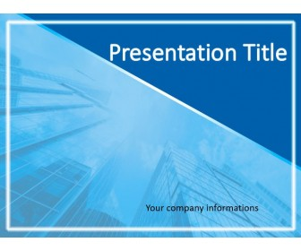 Business Skyscraper Free Powerpoint Template