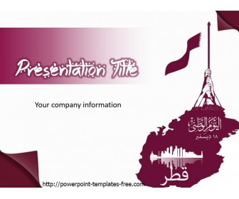 Qatar Free PowerPoint Template