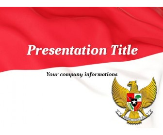 Flag of Indonesia - Free PowerPoint Template