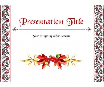 Minimalistic template for presentation with elements of Ukrainian ornament