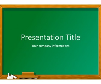 Green chalkboard free powerpoint template download free green chalkboard powerpoint template toneelgroepblik Images