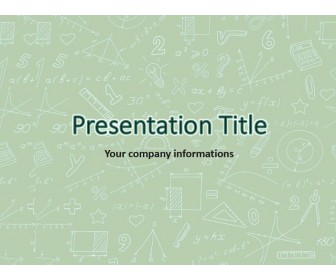 Math Free PowerPoint Template