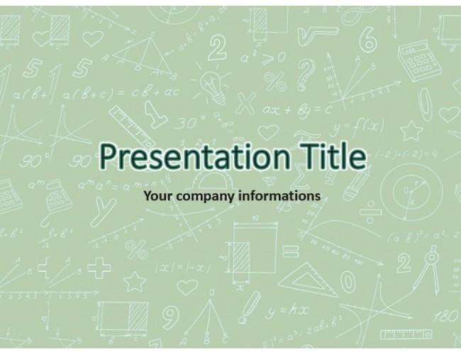 powerpoint template mathematics free