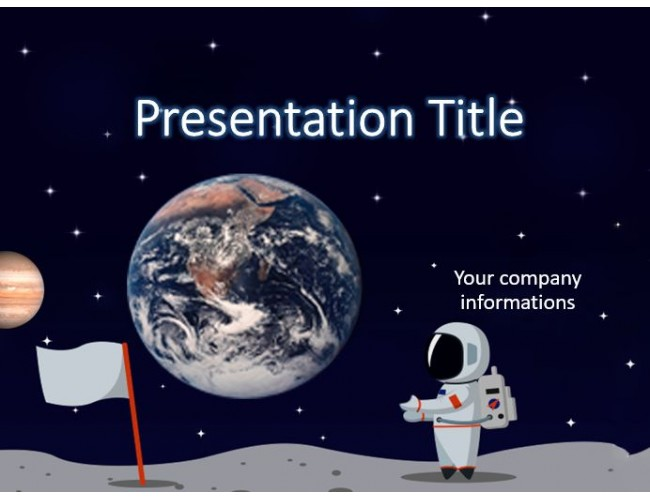 Astronaut - PowerPoint Template Free Download