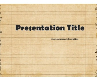 Download free Old Notebook Page PowerPoint templates