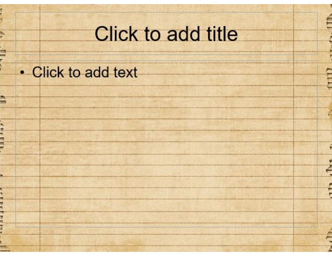 Old Notebook Page Free Powerpoint Template