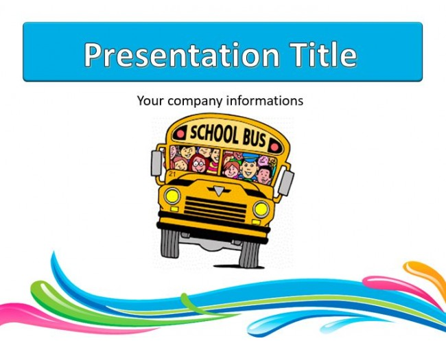 School bus free powerpoint template download free school bus powerpoint templates toneelgroepblik Images
