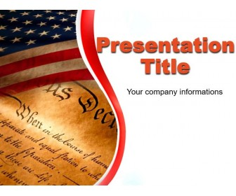 Independence Day of America Free PowerPoint Template