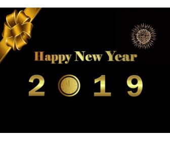 Happy New Year 2019 PowerPoint Template