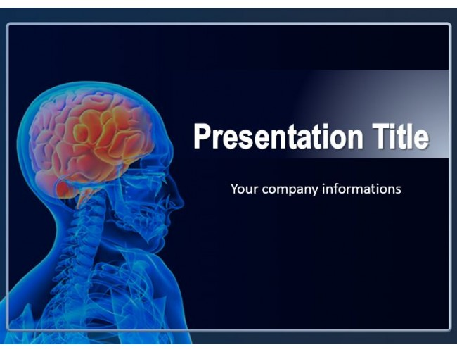 Human brain free powerpoint template medical powerpoint template showing human brain toneelgroepblik Choice Image