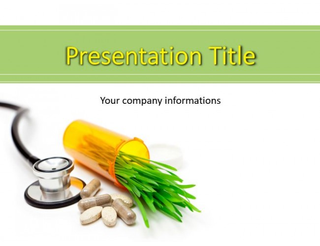 Herbal pills and medicine herb powerpoint templates herbal pills and medicine herb toneelgroepblik Images