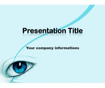 Eye Blue Theme Free Powerpoint Template