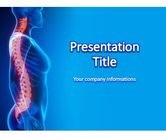 Spinal Cord Medical Power Point Template