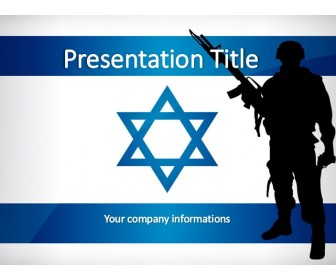 The Israeli Soldier Free Powerpoint Template