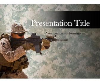 Marine Sniper Free PowerPoint Template