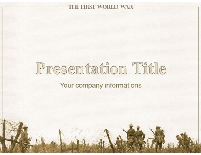 The first world war free military powerpoint template toneelgroepblik Image collections