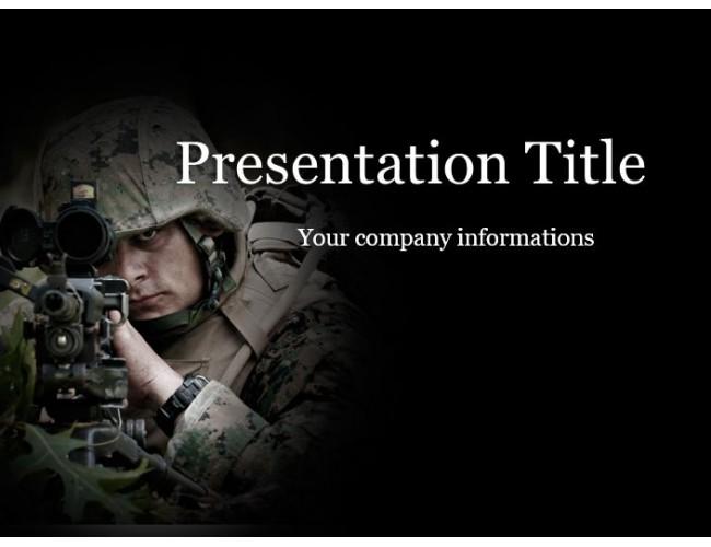 Soldier black free powerpoint template toneelgroepblik Choice Image